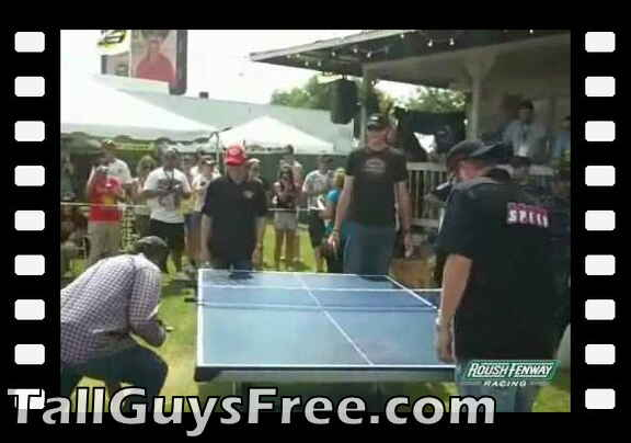 Matt Kenseth Vs. John Isner in Ping Pong