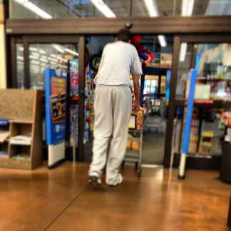 Giant walmart tall guy