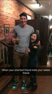 When your shortest friend meets your tallest friend