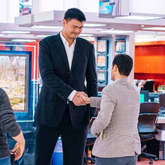 Yao Ming and Sam Stein