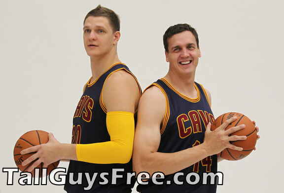 Timofey Mozgov and Sasha Kaun