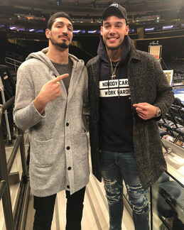Enes Kanter and Willy Hernangomez