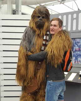 Josh Sambo with Chewbacca