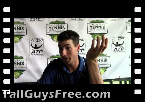 Newport 2013: Exactly How Tall Are You, John Isner?