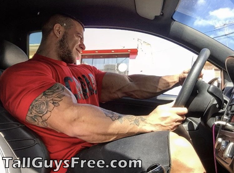 Giant muscle in car