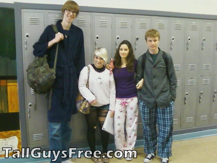 Giant student over 7 feet