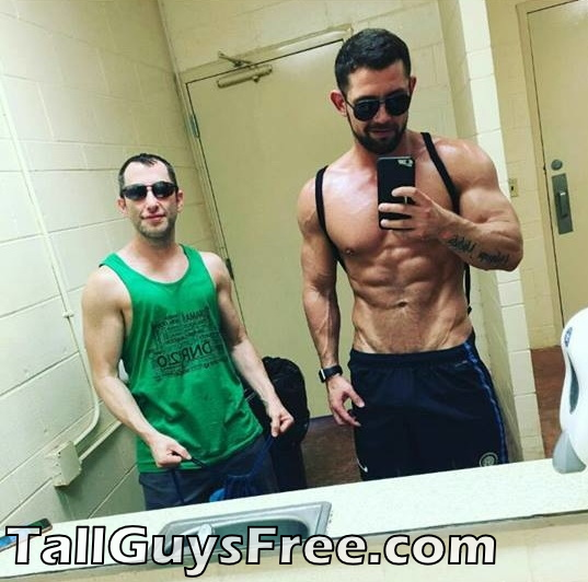 Tall Guy with abs and small friend