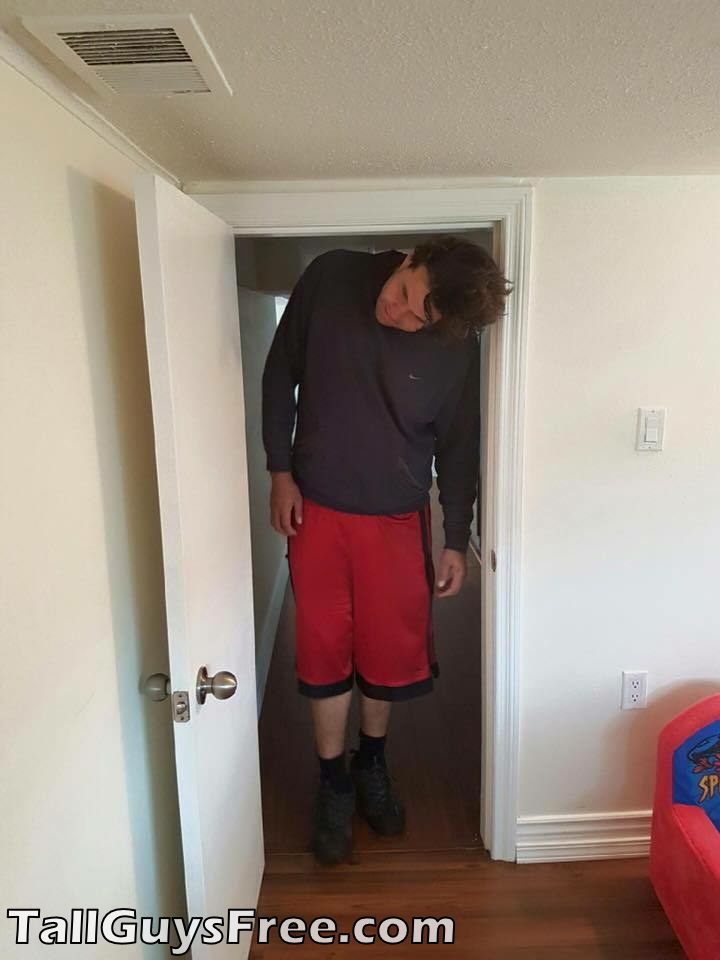 Guy too tall for door