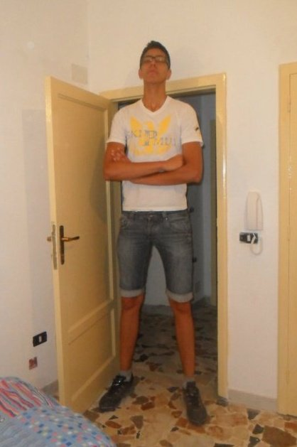 Tall Guy in Doorway